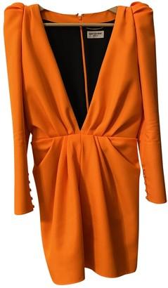 Saint Laurent Orange Polyester Dresses