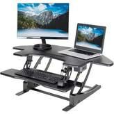 Vivo Corner Electric Cubicle Sit Height Adjustable Standing Desk