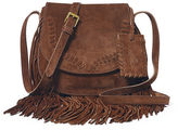 Polo Ralph Lauren Fringed Suede Cross-Body Bag