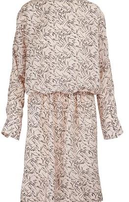 Plan C Printed silk dress