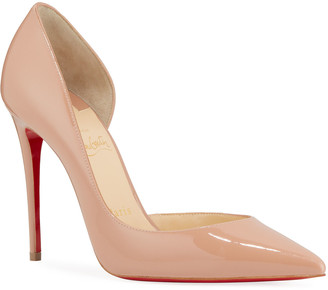 Christian Louboutin Iriza Patent 100mm Half-d'Orsay Red Sole Pumps