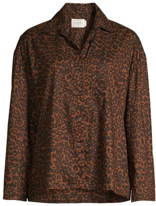 Maison du Soir Hendricks Animal Print Pajama Top