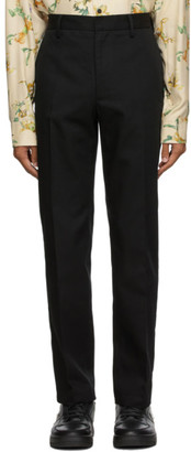 Acne Studios Black Twill Slim-Fit Chino Trousers