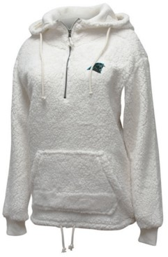 5th & Ocean Women's Carolina Panthers Sherpa Quarter-Zip Pullover