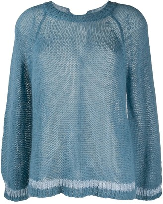 Semi-Couture Oversized Sheer Jumper