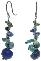 Ten Thousand Things Tapered Blue Ancient Bead Earrings