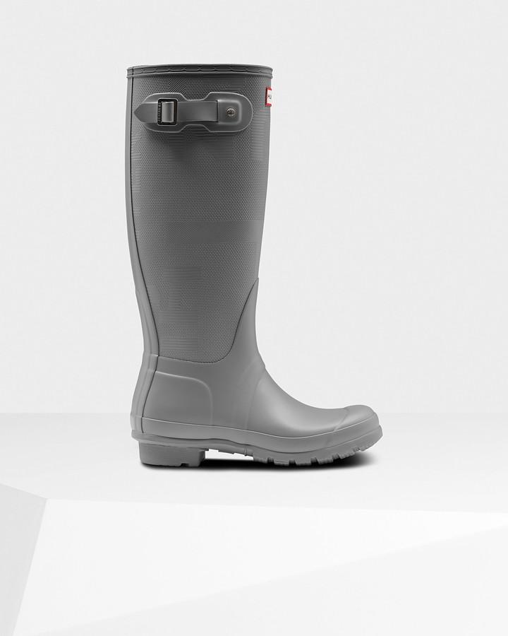 Hunter Women's Original Tall Exploded Logo Texture Wellington Boots