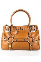 Luella Brown Leather Baby Gisele Satchel Handbag Size Medium