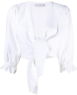 Faithfull The Brand Jacinta linen cropped top