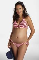 Pez D'or Women's Stripe Two-Piece Maternity Swimsuit
