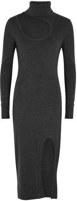Monse Roll-neck cut-out merino wool jumper dress