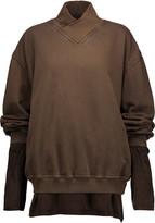Haider Ackermann Layered cotton-jersey and silk top