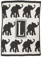 Butterscotch Blankees 'Walking Elephants - Small' Personalized Blanket