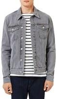 Topman Men's Washed Denim Western Jacket