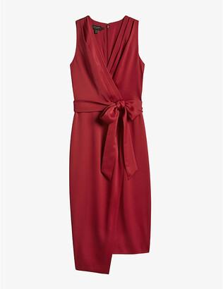 Ted Baker Chrisey sleeveless woven midi wrap dress