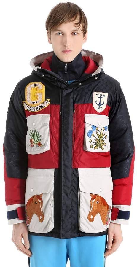 Gucci Hooded Nylon Caban Down Jacket
