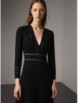 Burberry Lace Insert Fitted Dress
