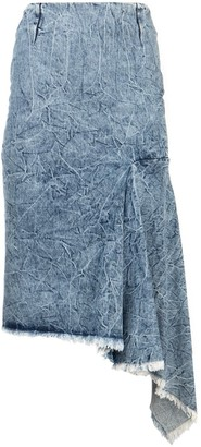 Balenciaga Side Godet Skirt
