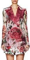 Dolce & Gabbana Women's Peony-Print Silk Organza Blazer