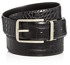 Giorgio Armani Men's Croc-Embossed Reversible Leather Belt