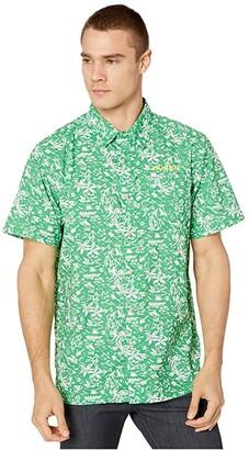 Columbia College Oregon Ducks CLG Super Slack Tidetm Shirt (Fuse Green) Men's Clothing