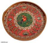 Glass tray, 'Redbird Cheer'
