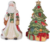 Fitz & Floyd Crimson Holiday Salt and Pepper Shakers