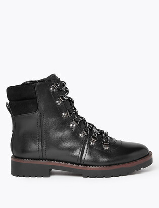 Marks and Spencer Leather Hiker Ankle Boots