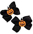 Botrong 1 Pair Fashion Halloween Toddler Baby Kids Girls Bowknot Hairpin Headdress Hair Clips (A)