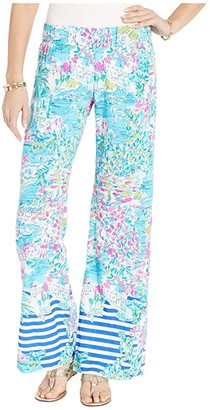 Lilly Pulitzer Bal Harbour Palazzo (Multi Postcards From Positano Engineered Pants) Women's Casual Pants