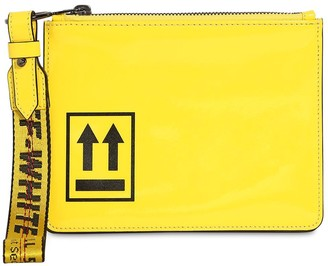 Off-White Patent Leather Pouch