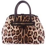 Dolce & Gabbana Leather-Trimmed Ponyhair Tote