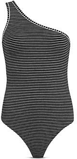 AllSaints Freyla One Shoulder Striped Bodysuit