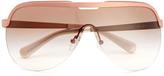 MICHAEL Michael Kors Women's Sweet Escape Sunglasses Matt Rose Gold