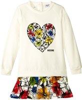 Moschino Drop Waist Dress W/Floral Skirt (Toddler) - Multi - 2T