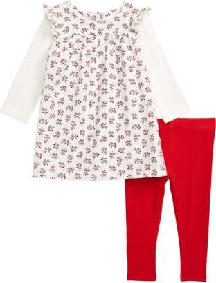 Nordstrom Festive Long Sleeve Corduroy Dress & Leggings Set