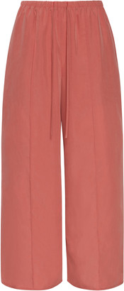 Sally LaPointe Pin Tucked Wide-Leg Pants