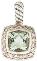 David Yurman Sterling Diamond & Prasiolite Petite Albion Pendant