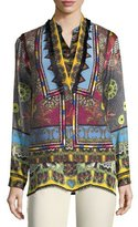 Etro Mandala Printed & Embroidered Vest