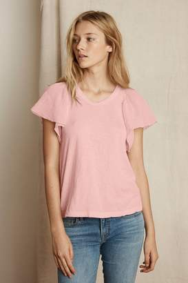 Velvet by Graham & Spencer Velvet By Graham Spencer Betha Cotton Slub Mix Ruffle Sleeve Tee