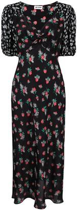 Rixo Floral Midi Dress