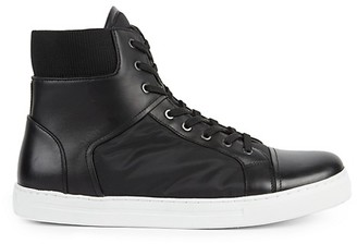Kenneth Cole Kam Leather High-Top Sneakers