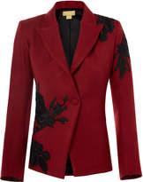 Nadya Shah Black Rose Jacket