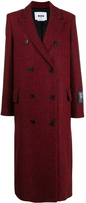 MSGM Double-Breasted Mid-Length Coat