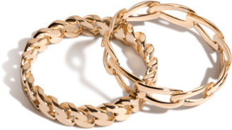 AUrate New York The Statement Chain Ring Set