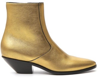 Saint Laurent West 45 Metallic Ankle Boots