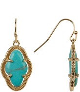 Cara Accessories Turquoise Dangle Earrings