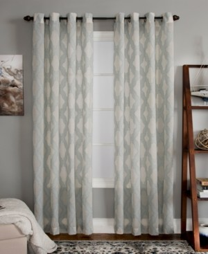"Closeout! Miller Curtains Clip 50"" x 63"" Geometric Window Panel"