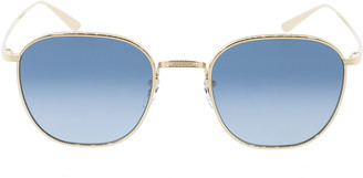 Oliver Peoples The Row Board Meeting 2 Sunglasses - Gold and Blue