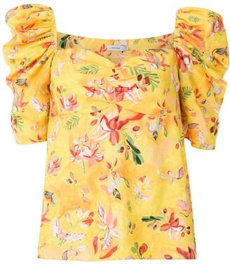 Isolda Videtti printed linen blouse